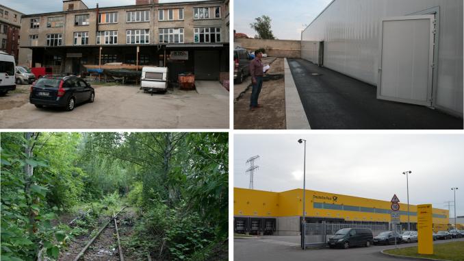 Gegensätze im Gewerbegebiet Herzbergstraße