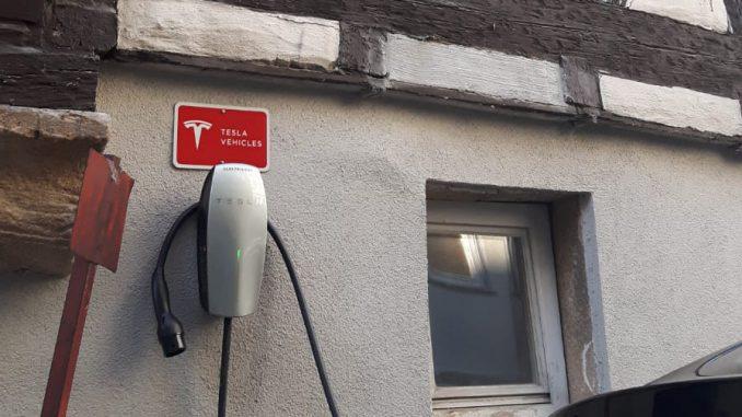 Ladestation von Tesla