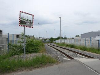 Gleisanschluss im Industriegebiet